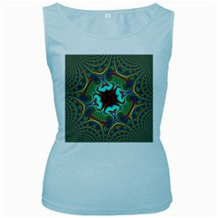 Hot Hot Summer A Women s Baby Blue Tank Top