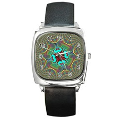 Hot Hot Summer A Square Metal Watch