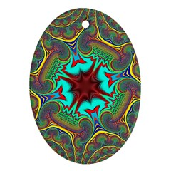 Hot Hot Summer A Oval Ornament (Two Sides)