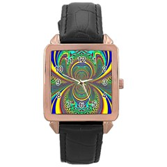 Hot Hot Summer B Rose Gold Leather Watch