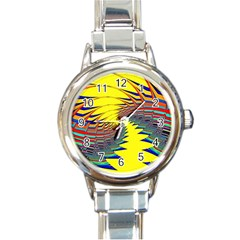 Hot Hot Summer C Round Italian Charm Watch
