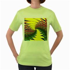 Hot Hot Summer C Women s Green T-Shirt