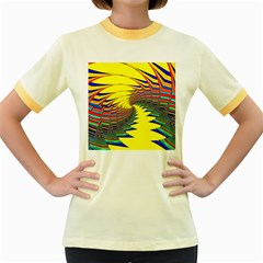 Hot Hot Summer C Women s Fitted Ringer T-Shirts