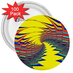 Hot Hot Summer C 3  Buttons (100 Pack)