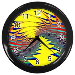 Hot Hot Summer C Wall Clocks (Black)