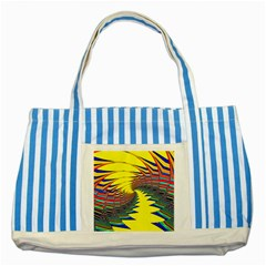 Hot Hot Summer C Striped Blue Tote Bag