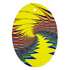 Hot Hot Summer C Oval Ornament (Two Sides)
