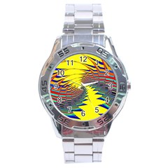Hot Hot Summer C Stainless Steel Analogue Watch