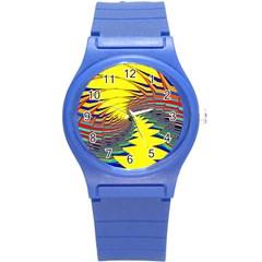 Hot Hot Summer C Round Plastic Sport Watch (S)