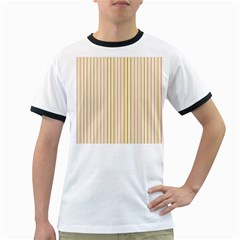 Stripes Pink and Green  line pattern Ringer T-Shirts