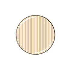 Stripes Pink And Green  Line Pattern Hat Clip Ball Marker