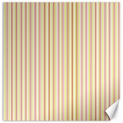 Stripes Pink and Green  line pattern Canvas 16  x 16