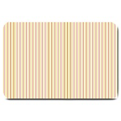 Stripes Pink and Green  line pattern Large Doormat