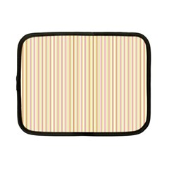 Stripes Pink and Green  line pattern Netbook Case (Small)