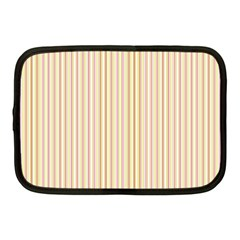Stripes Pink and Green  line pattern Netbook Case (Medium)
