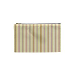 Stripes Pink And Green  Line Pattern Cosmetic Bag (small)