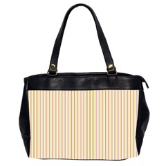 Stripes Pink And Green  Line Pattern Office Handbags (2 Sides)
