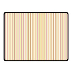 Stripes Pink and Green  line pattern Fleece Blanket (Small)