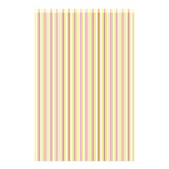 Stripes Pink and Green  line pattern Shower Curtain 48  x 72  (Small)