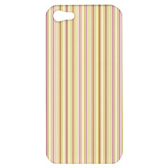Stripes Pink And Green  Line Pattern Apple Iphone 5 Hardshell Case