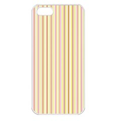 Stripes Pink and Green  line pattern Apple iPhone 5 Seamless Case (White)