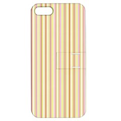 Stripes Pink and Green  line pattern Apple iPhone 5 Hardshell Case with Stand