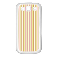 Stripes Pink and Green  line pattern Samsung Galaxy S3 Back Case (White)