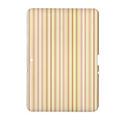 Stripes Pink and Green  line pattern Samsung Galaxy Tab 2 (10.1 ) P5100 Hardshell Case