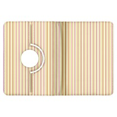 Stripes Pink and Green  line pattern Kindle Fire HDX Flip 360 Case