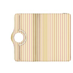 Stripes Pink And Green  Line Pattern Kindle Fire Hdx 8 9  Flip 360 Case