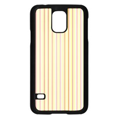 Stripes Pink and Green  line pattern Samsung Galaxy S5 Case (Black)
