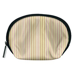 Stripes Pink And Green  Line Pattern Accessory Pouches (medium)