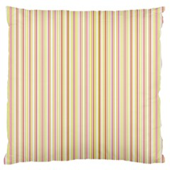 Stripes Pink and Green  line pattern Standard Flano Cushion Case (One Side)