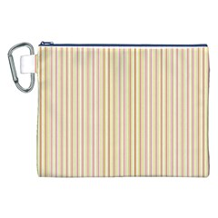 Stripes Pink And Green  Line Pattern Canvas Cosmetic Bag (xxl)