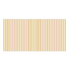 Stripes Pink and Green  line pattern Satin Shawl