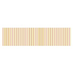 Stripes Pink And Green  Line Pattern Satin Scarf (oblong)