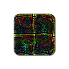 Hot Hot Summer D Rubber Square Coaster (4 pack)