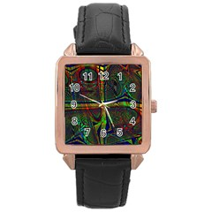 Hot Hot Summer D Rose Gold Leather Watch