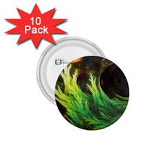 A Seaweed s DeepDream of Faded Fractal Fall Colors 1.75  Buttons (10 pack)