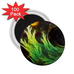 A Seaweed s DeepDream of Faded Fractal Fall Colors 2.25  Magnets (100 pack)