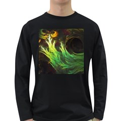 A Seaweed s DeepDream of Faded Fractal Fall Colors Long Sleeve Dark T-Shirts