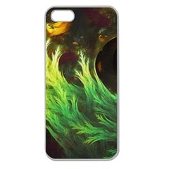 A Seaweed s DeepDream of Faded Fractal Fall Colors Apple Seamless iPhone 5 Case (Clear)