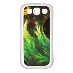 A Seaweed s DeepDream of Faded Fractal Fall Colors Samsung Galaxy S3 Back Case (White)