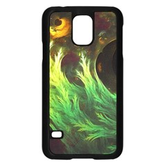 A Seaweed s DeepDream of Faded Fractal Fall Colors Samsung Galaxy S5 Case (Black)