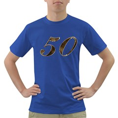 Number 50 Elegant Gold Glitter Look Typography 50th Anniversary Dark T Shirt