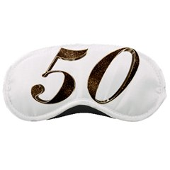 Number 50 Elegant Gold Glitter Look Typography 50th Anniversary Sleeping Masks
