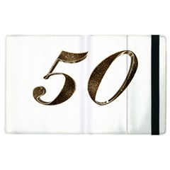 Number 50 Elegant Gold Glitter Look Typography 50th Anniversary Apple iPad 3/4 Flip Case