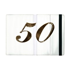 Number 50 Elegant Gold Glitter Look Typography 50th Anniversary Apple iPad Mini Flip Case
