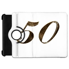 Number 50 Elegant Gold Glitter Look Typography 50th Anniversary Kindle Fire HD 7