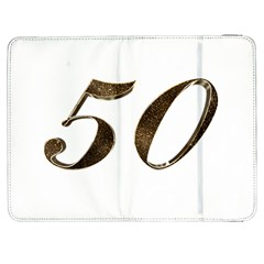 Number 50 Elegant Gold Glitter Look Typography 50th Anniversary Samsung Galaxy Tab 7  P1000 Flip Case